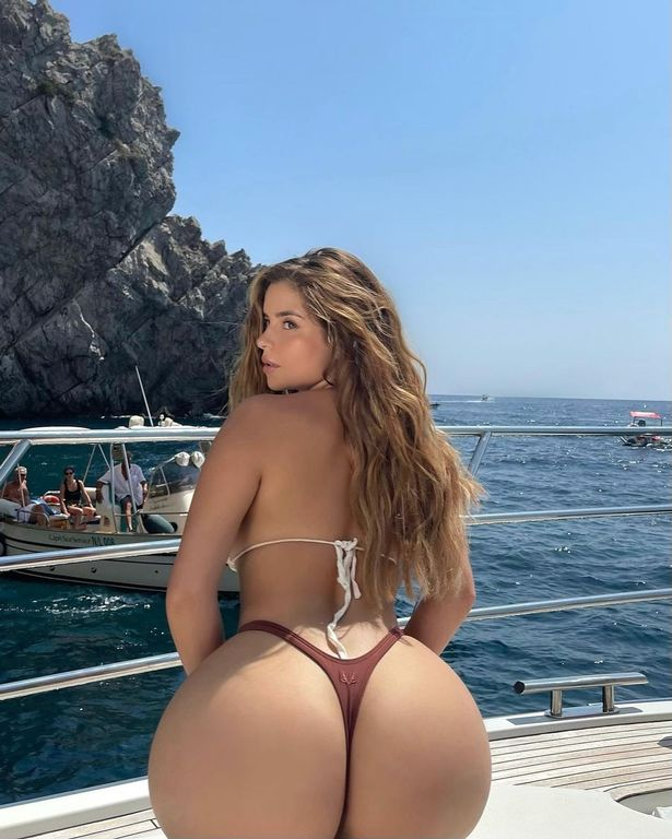 The snap is the latest in a series of revealing pics as she enjoys a vacation in Italy