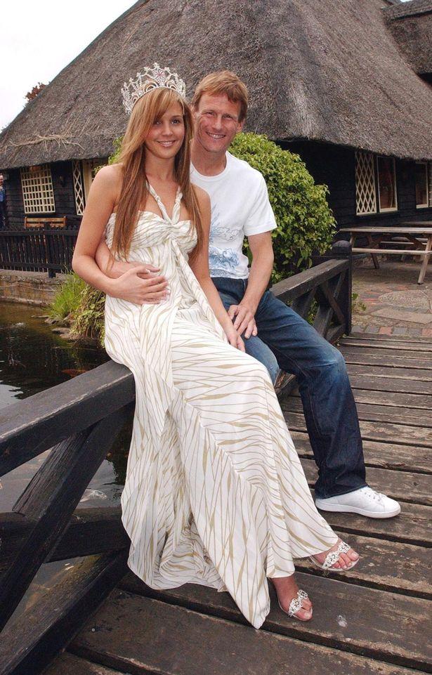 Danielle Lloyd and her former partner, West Ham footballer Teddy Sheringham