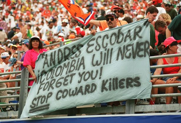 Tributes have been made to Andres Escobar each year since his death in 1994