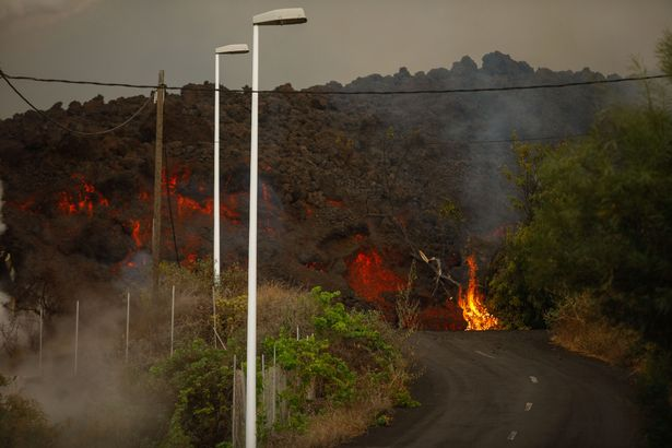 """President of the La Palma island council, Mariano Hernández Zapata, said that the lava """"is literally eating up the houses"""""""
