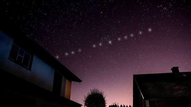 Starlink satellites orbit much closer to Earth than other satellites—meaning they look very bright in the night sky