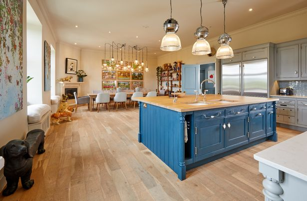 The kitchen is at the heart of the mega mansion