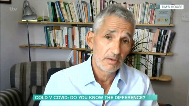 Epidemiologist Professor Tim Spector joined Phil and Holly to debate a segment titled Cold v Covid