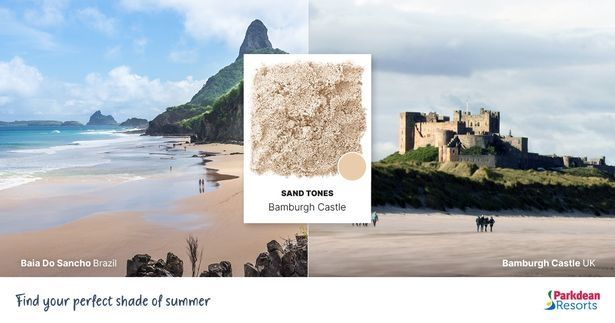 Bamburgh Castle, Northumberland and Baia Do Sancho, Brazil