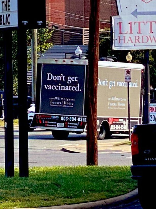Funeral home ad truck