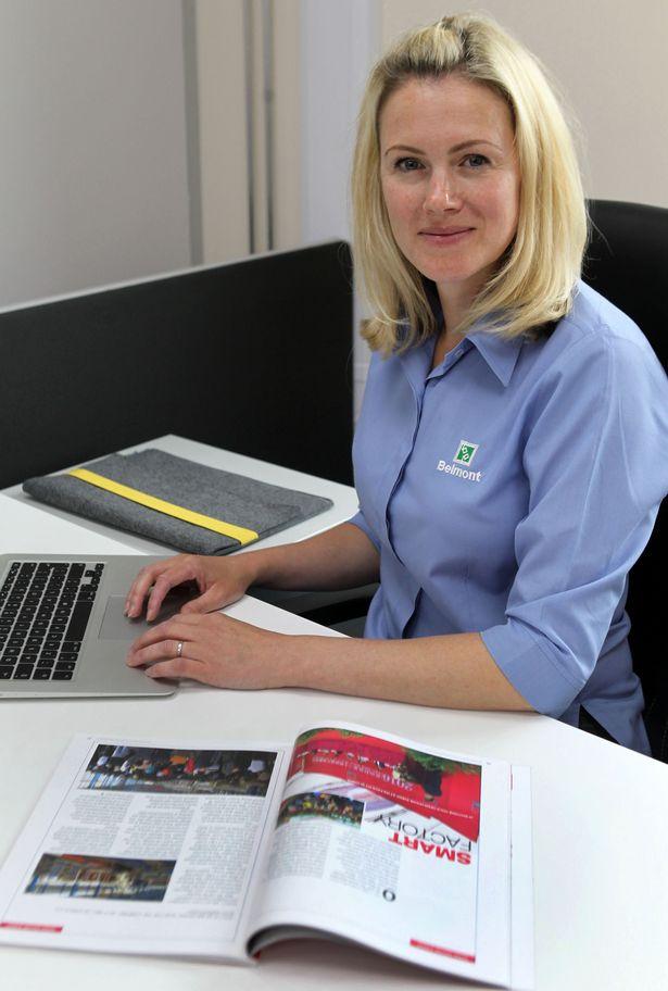 Kate Hulley of Belmont Packaging Wigan.