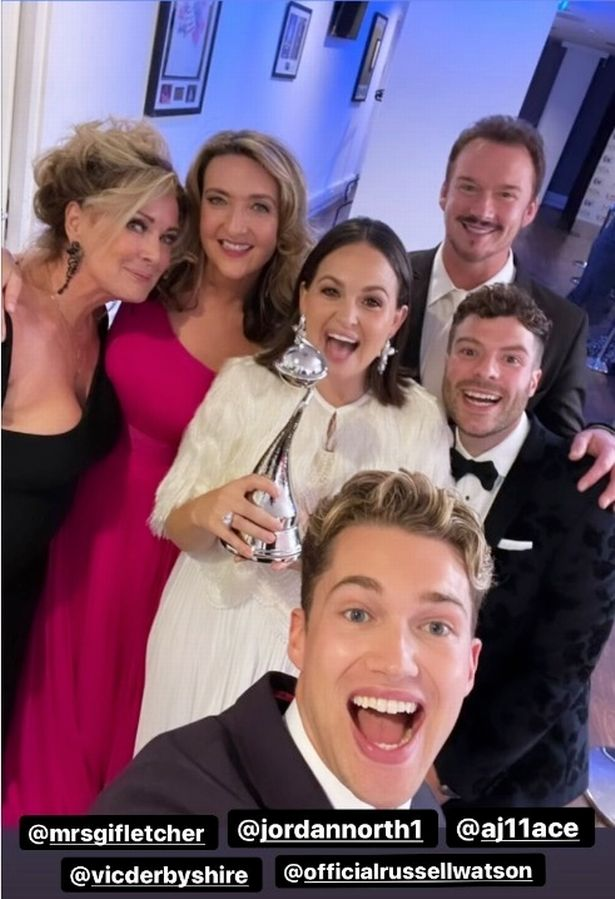 Many of the celeb contestants met up once more at the National Television Awards