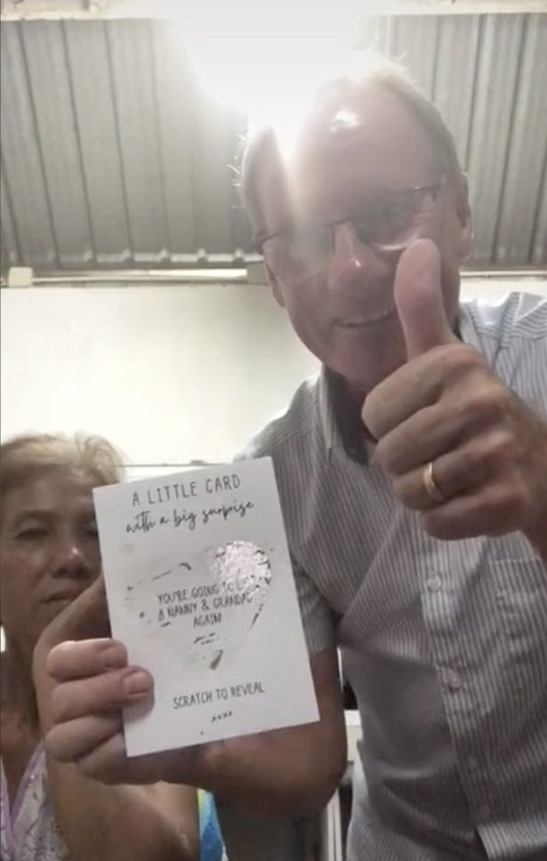 Her dad was overjoyed when he saw the message about the pregnancy but her mum remained emotionless