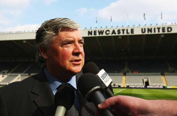 Joe Kinnear of Newcastle is interviewed on the pitch prior the Barclays Premier league game between Newcastle United and Blackburn at St James' Park on September 27, 2008 in Newcastle, England.