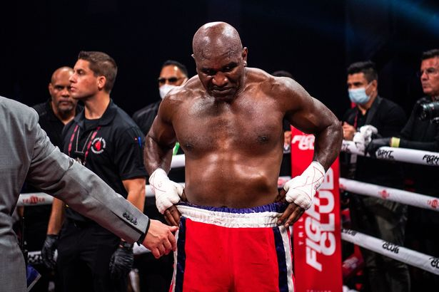 Holyfield is apparently defeating 22-year-old fighters in training
