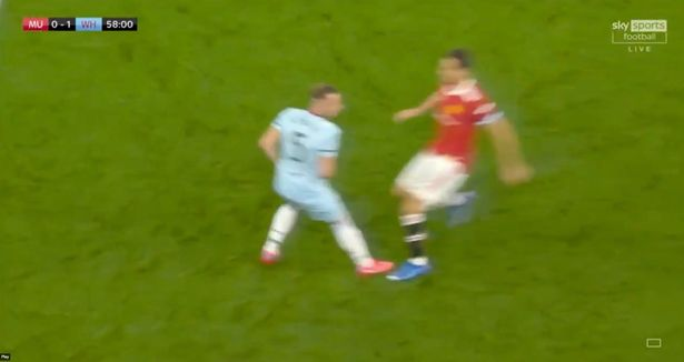 Matic had attempted to win the ball from the Czech full-back