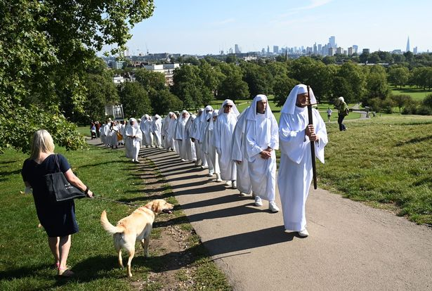 Druids gather in London for an ancient ceremony marking 'the start of the druid year'