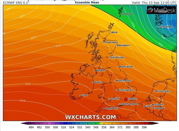 Brits will be able to bask in 23C highs over the next few days