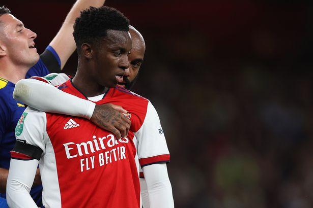 Eddie Nketiah scored a fine goal for Arsenal against Wimbledon