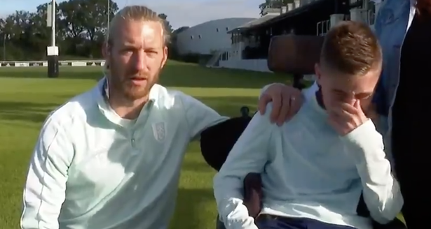 Rhys was overcome with emotion after being surprised by the Fulham defender