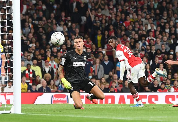 Mikel Arteta makes 'proud' admission after Eddie Nketiah's Carabao Cup goal