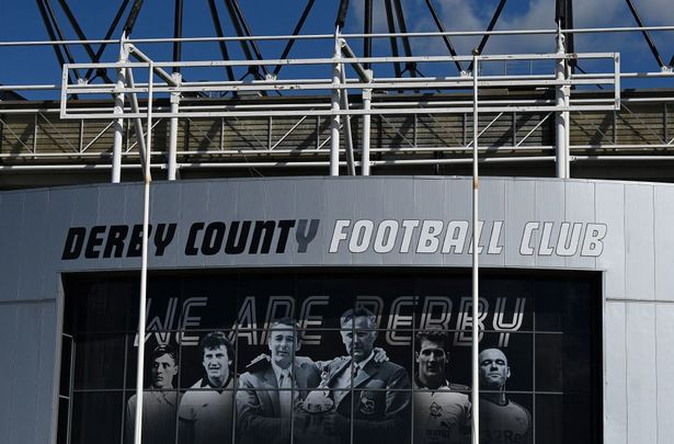 Pride Park stadium, the home ground of Derby County football club, is pictured in Derby on September 20, 2021. - Former English champions Derby County have applied to enter administration, the struggling second-tier club announced on September 17, 2021.