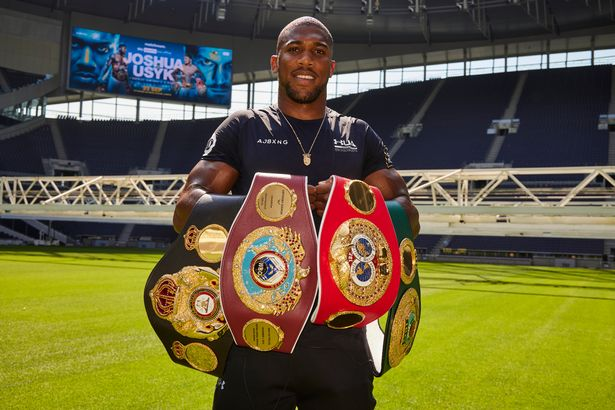 Anthony Joshua tours the Tottenham Hotspur Stadium after the Announcement that his next fight will be there on September 25th against Oleksandr Usyk for the Unified Heavyweight Championship of the World