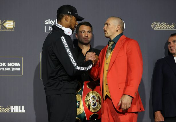 Anthony Joshua and Oleksander Usyk Final Press Conference ahead of their World Heavyweight Title clash on saturday night at the Tottenham Hotspur Stadium in London