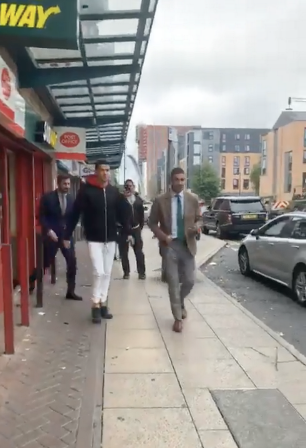 Cristiano Ronaldo spotted casually strolling out of Subway in Manchester