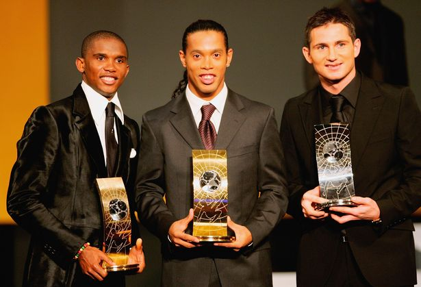 Frank Lampard finished second to Ronaldinho in the 2006 FIFA Player of the Year awards