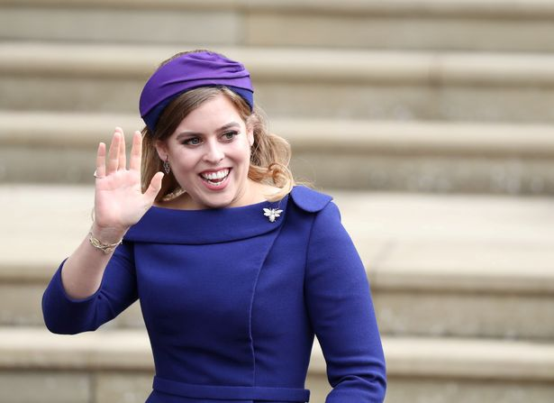 FILE PHOTO: Princess Beatrice arrives for the wedding of Princess Eugenie to Jack Brooksbank at St George's Chapel in Windsor Castle, Windsor, Britain, October 12, 2018. Steve Parsons/Pool via REUTERS/File Photo
