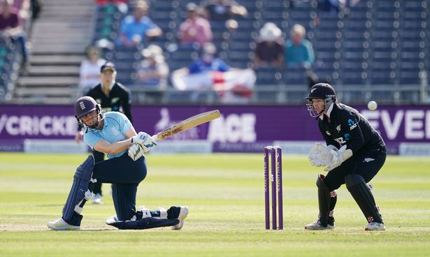 England's Heather Knight batting during the first one day international match at Bristol County Ground on Thursday September 16, 2021