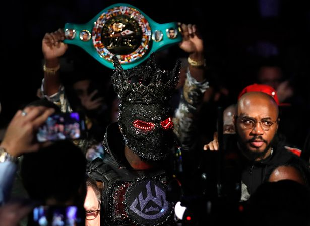 Deontay Wilder enters the ring