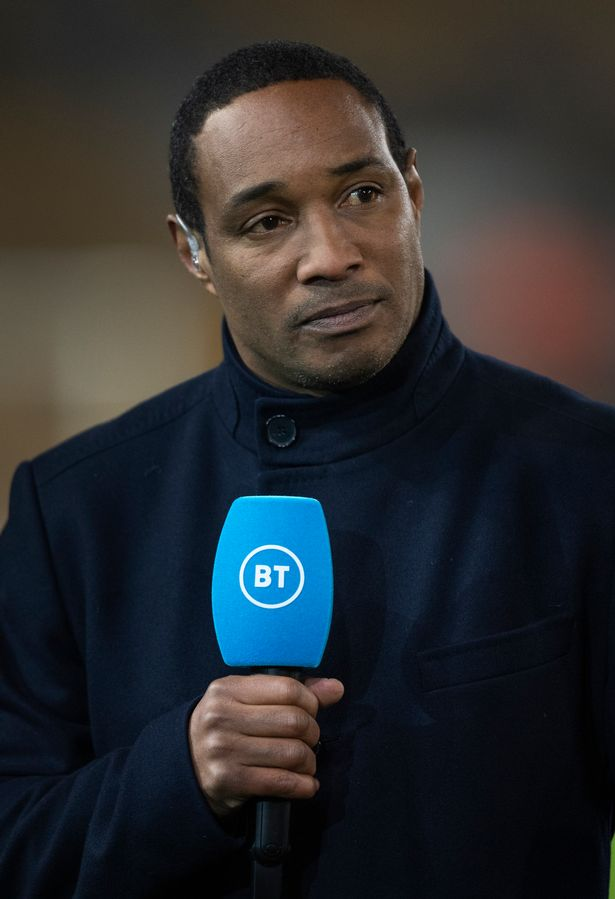 Paul Ince working as a pundit on BT Sport before the Premier League match between Wolverhampton Wanderers and Liverpool FC at Molineux on January 23, 2020 in Wolverhampton, United Kingdom.