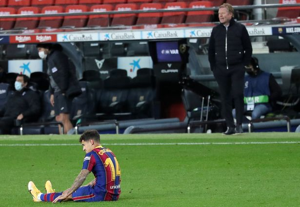 Philippe Coutinho's Barcelona career has been massively hindered by injuries