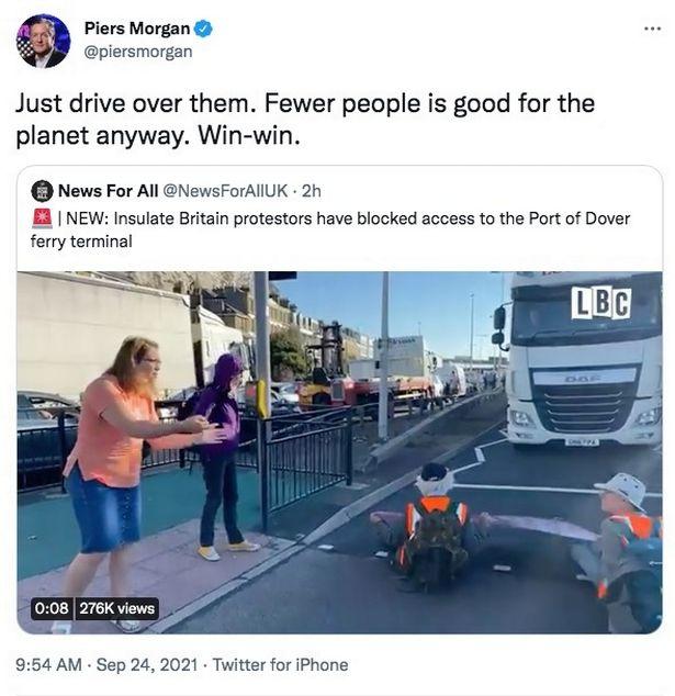 Piers sparked heated debate when he shared the 'joke'