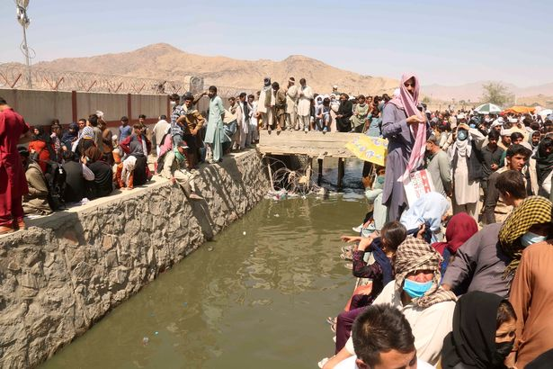 The sewer is located near to Kabul Airport