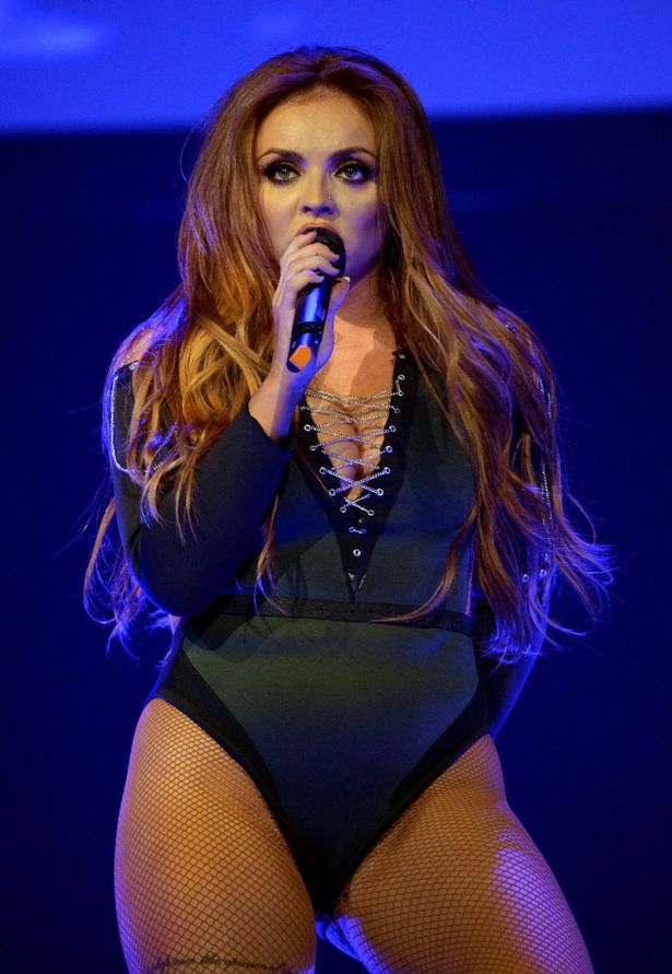 """Jesy Nelson performs on stage with Little Mix during Ariana Grande's """"Dangerous Woman"""" Tour Opener"""
