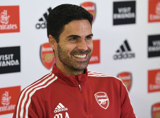Arsenal manager Mikel Arteta attendas a press conference at London Colney on September 24, 2021 in St Albans, England.