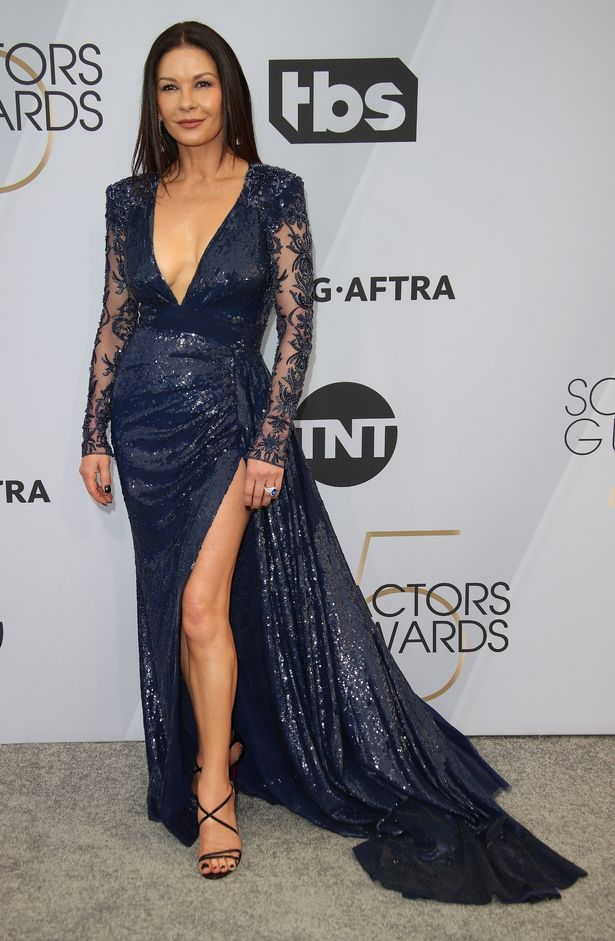 Catherine paraded her neverending pins in a lavish frock at the Screen Actors Guild Awards last year