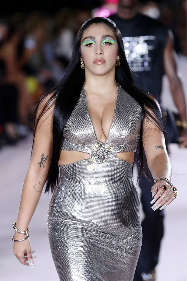 Madonna's daughter Lourdes Leon puts on a jaw-dropping display in plunging dress at MFW
