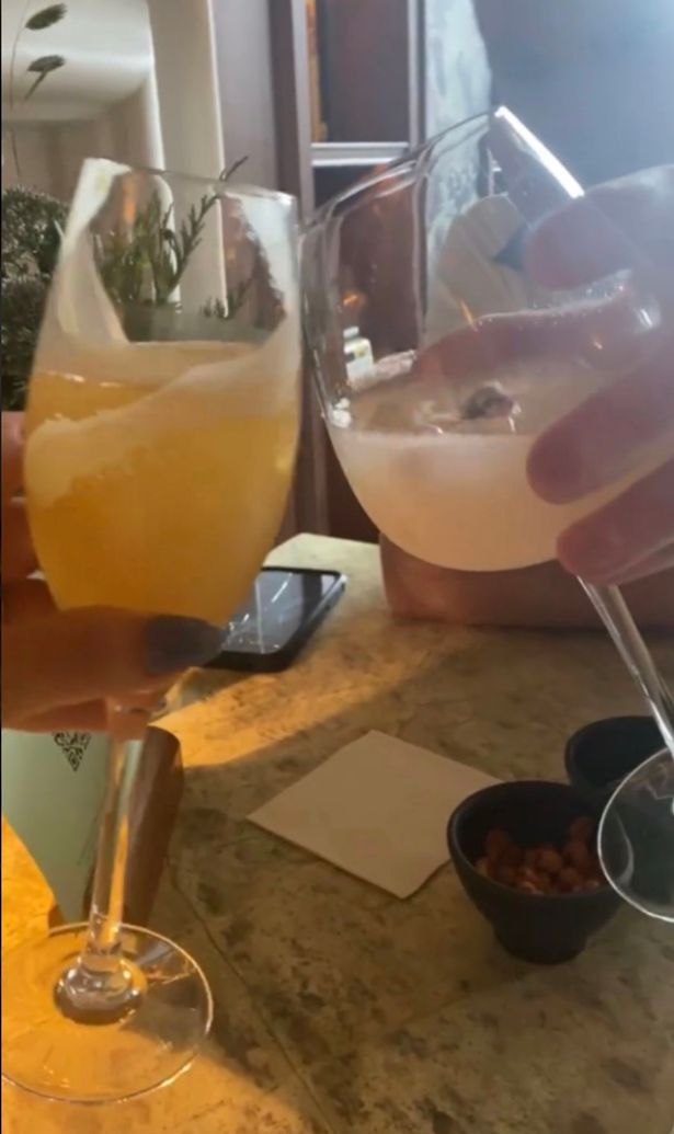 They had cocktails to celebrate