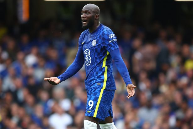 Romelu Lukaku of Chelsea during the Premier League match between Chelsea and Manchester City at Stamford Bridge on September 25, 2021