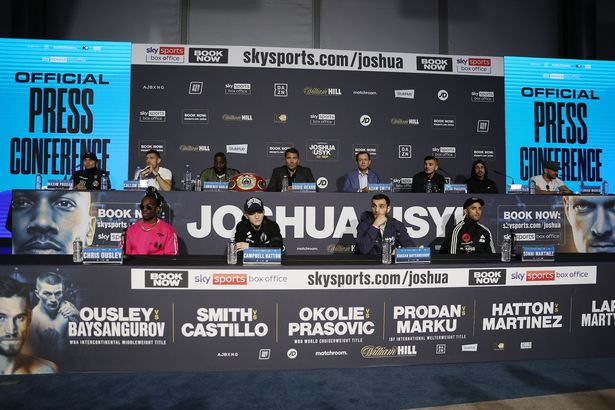 Joshua vs Usyk press conference on 23 September before their fight at the Tottenham Hotspur Stadium on Saturday night