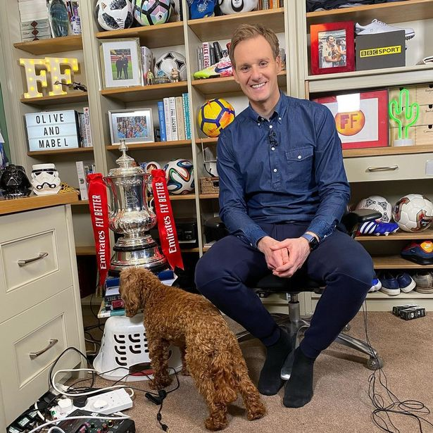 Dan lives in his stylish home alongside his family and dog