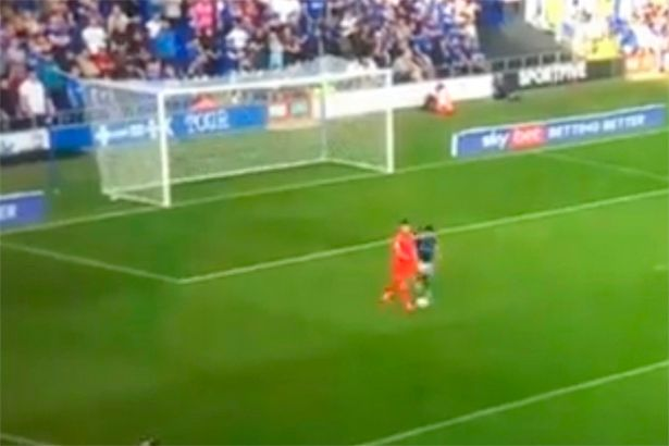 Peacock-Farrell was robbed by Macauley Bonne as he rolled the ball out in front of him