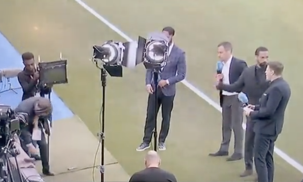 Rio Ferdinand's angry reaction to BT colleague caught on camera after phone smashed