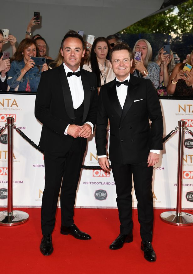 Ant and Dec at this year's NTA Awards, where they picked up the gong for Best Presenter