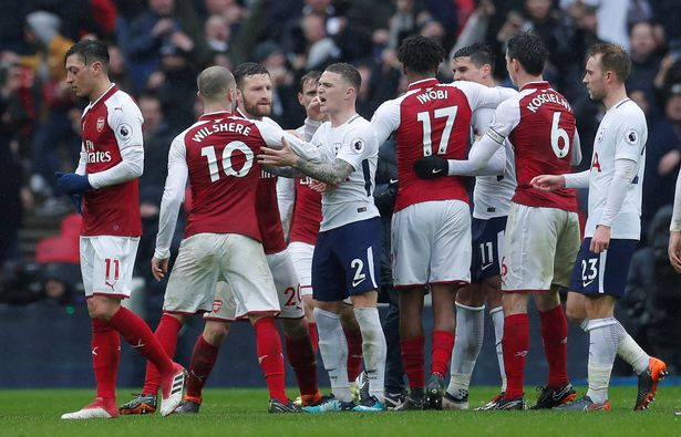 Jack Wilshere loved the intensity and fierceness of the matches against Tottenham Hotspur