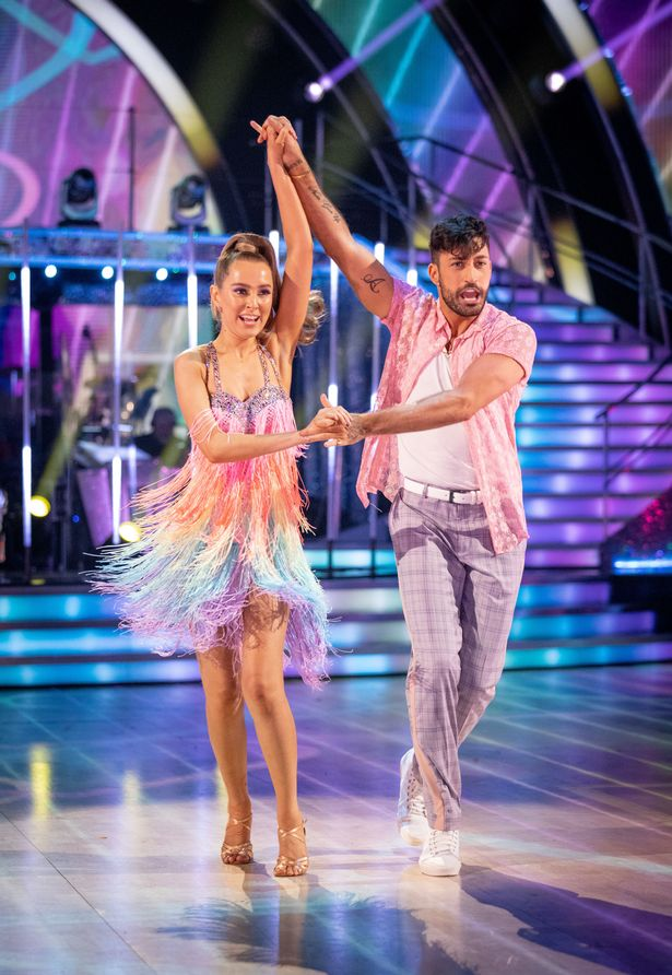 Rose Ayling-Ellis Giovanni Pernice during the dress run for the first episode of Strictly Come Dancing 2021.