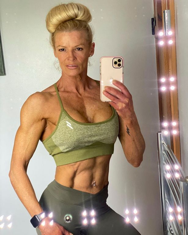 Kim Betts regularly shares photos of her competing in bodybuilding competitions