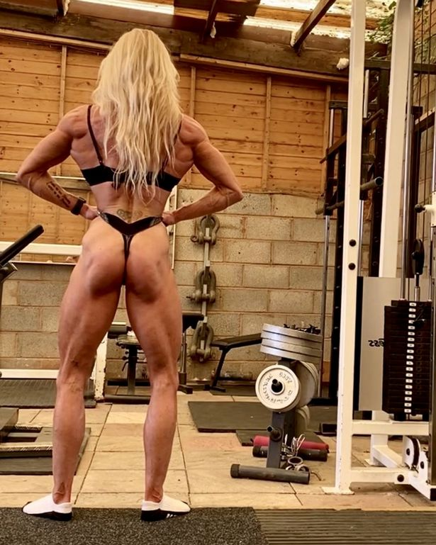 Kim Betts regularly shares photos of her gym workouts and participation at bodybuilding competitions