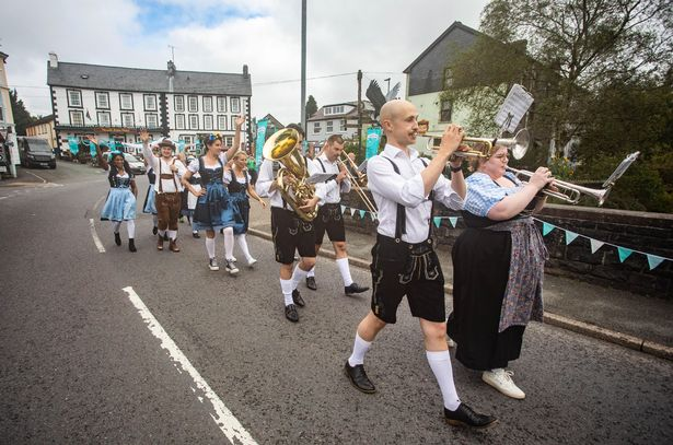 The Oktoberfest event featured processions and oompah bands