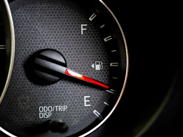If your fuel light is flashing you're dangerously low on fuel
