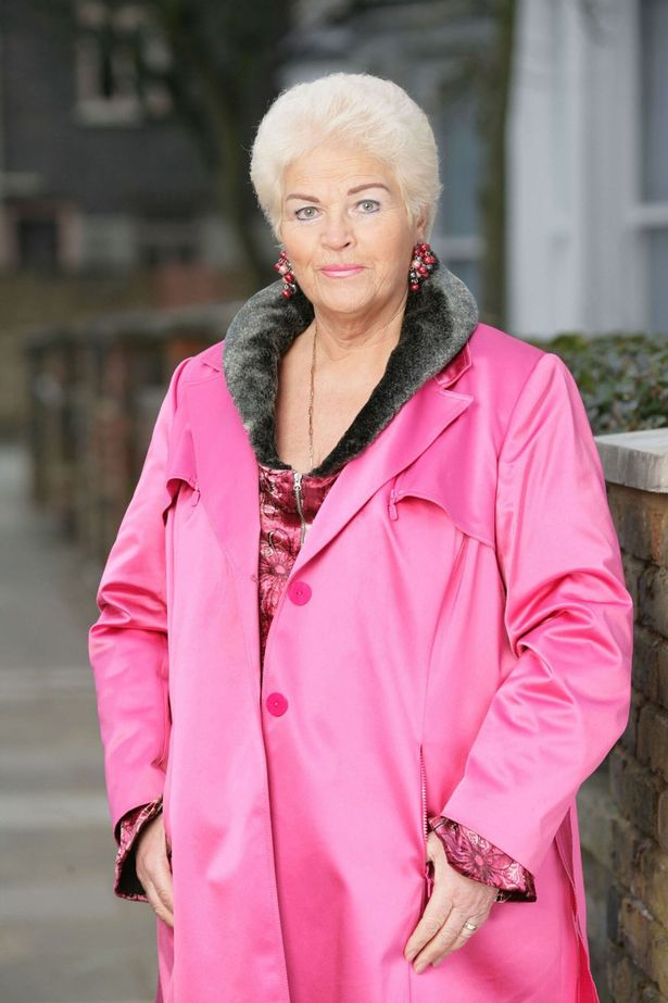 The mural boasts obvious similarities with EastEnders battle axe Pat Butcher